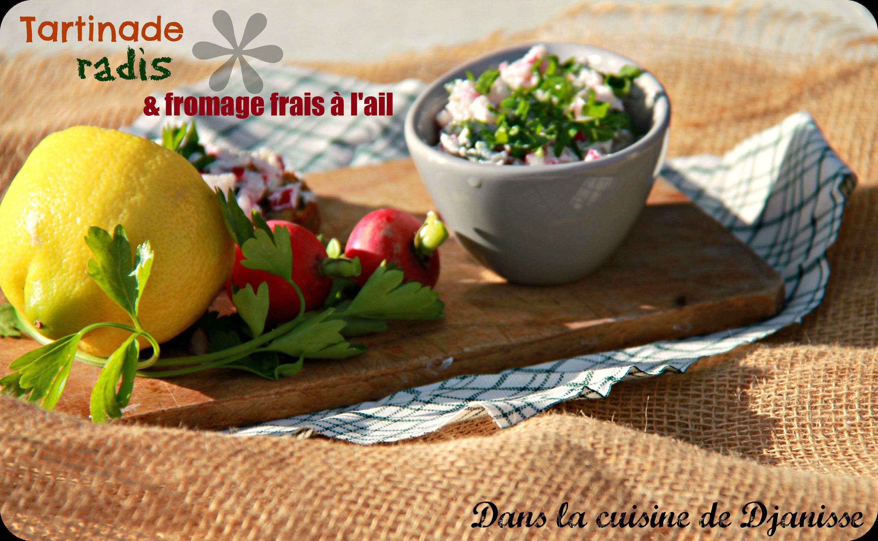Tartinade radis et fromage frais