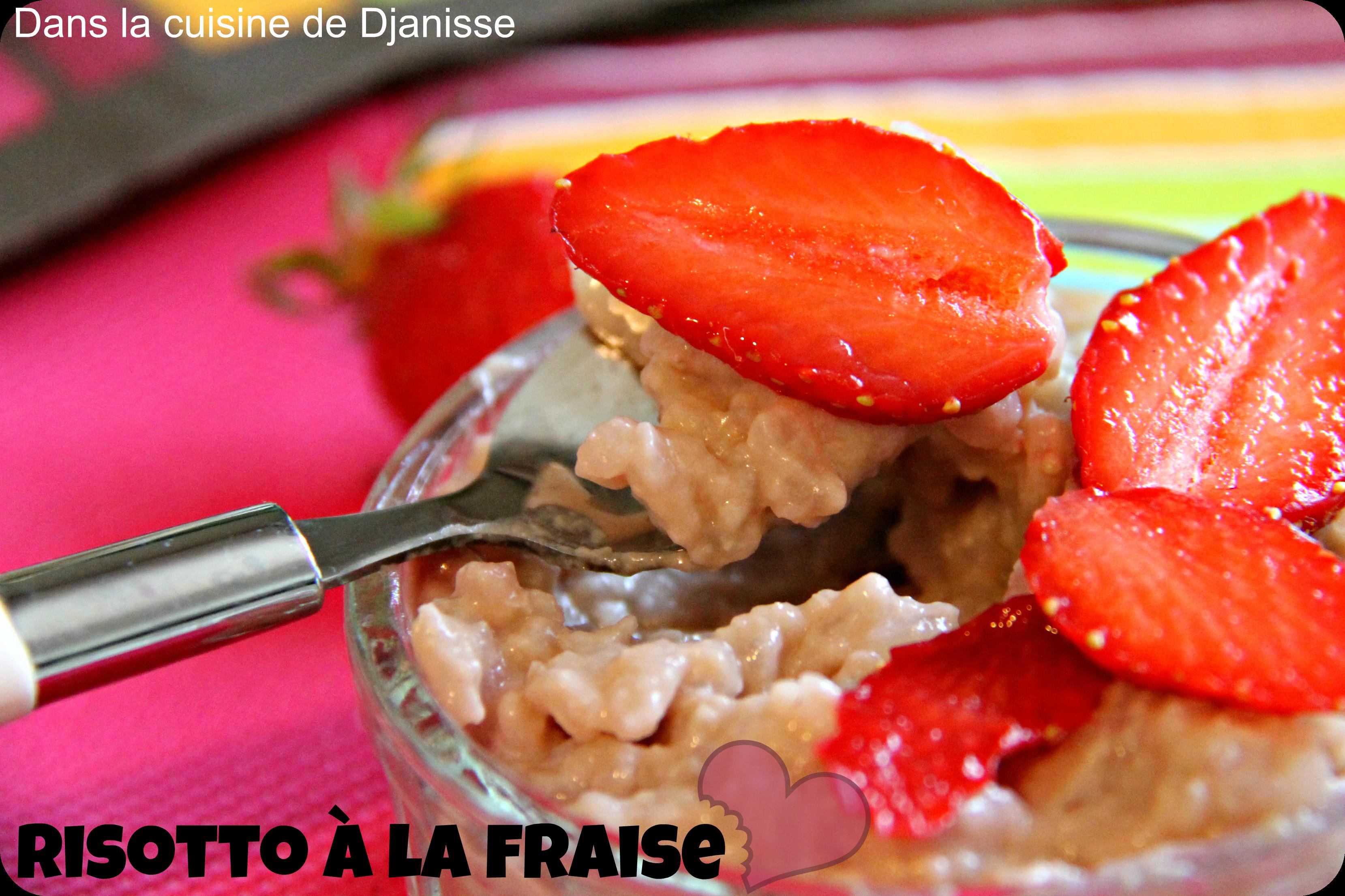 Risotto de fraises