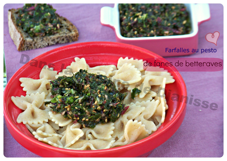 Farfalles Au Pesto De Fanes De Betteraves Cuisine Végétalienne - Cuisiner la betterave