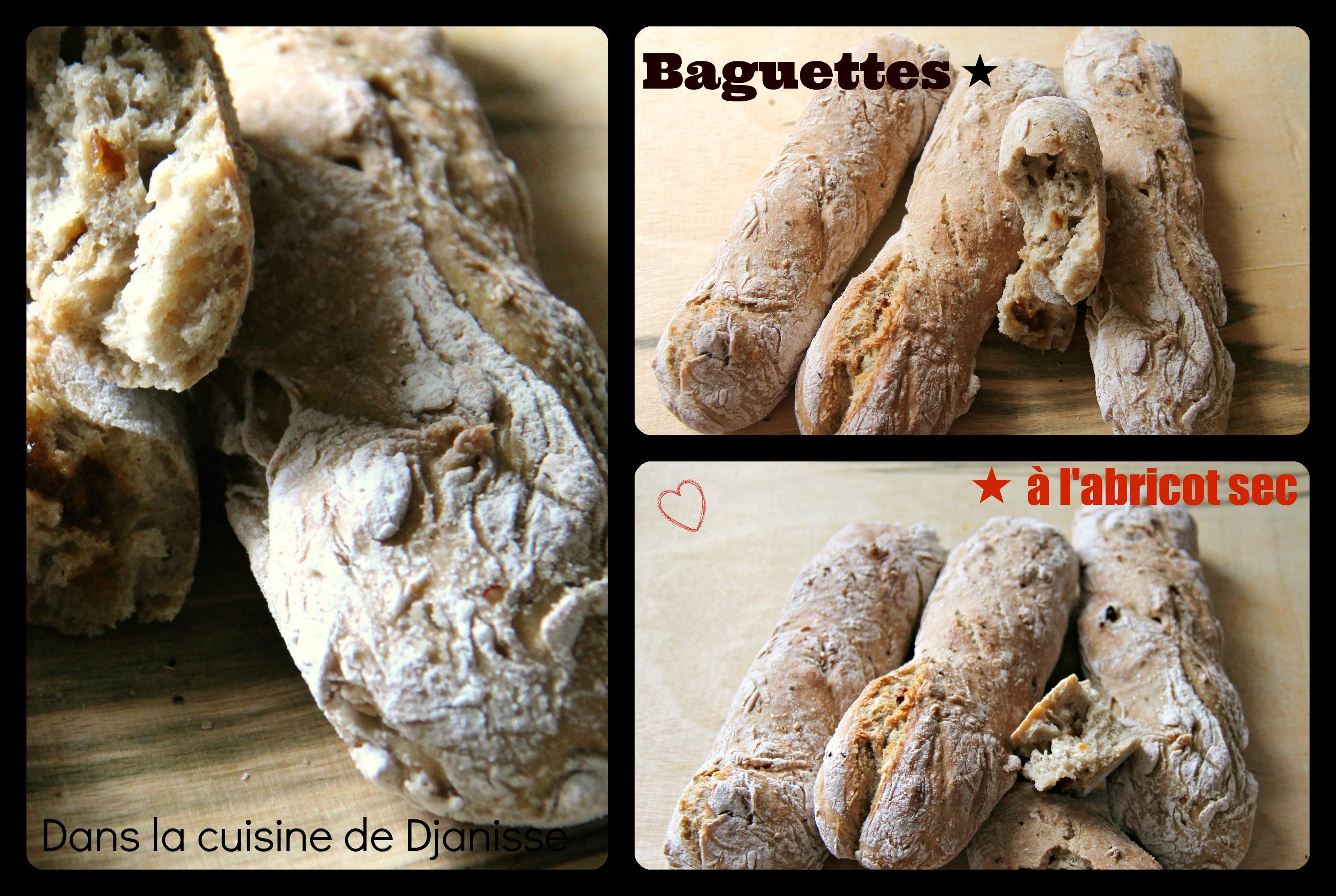 Baguettes à l'abricot sec