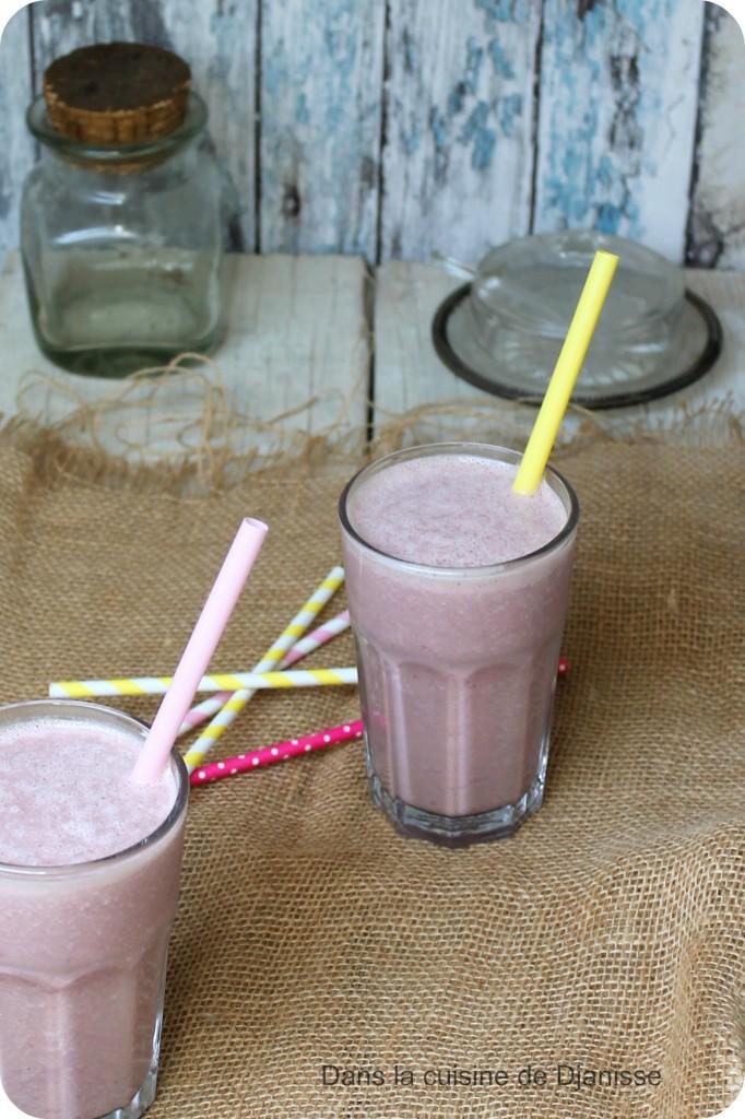 Milkshake bananes/framboises