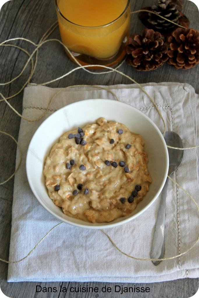 Porridge banane sans gluten