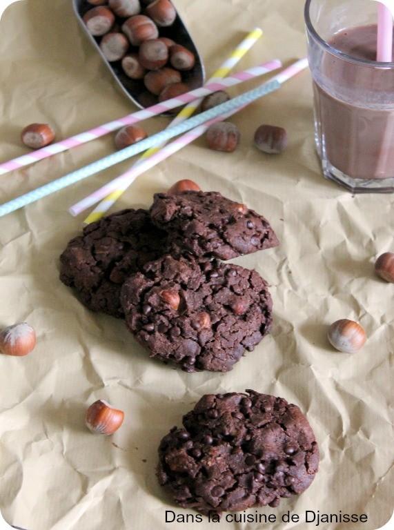 Cookies au chocolat et à la noisette