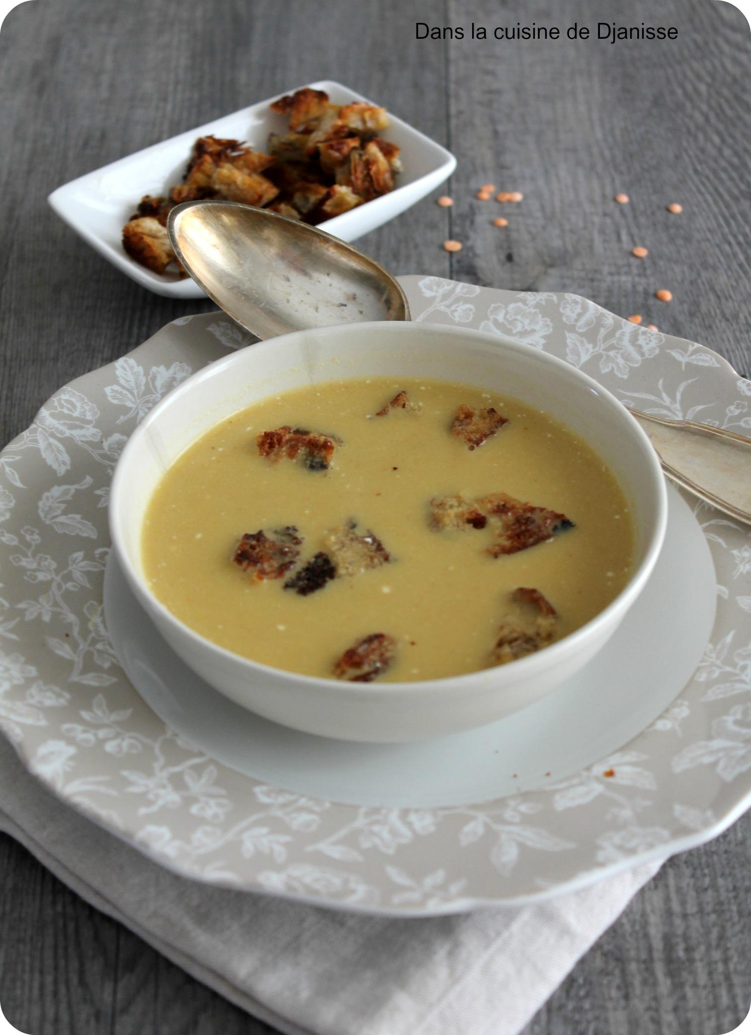 Lentilles Corail en soupe