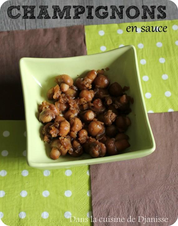 Champignons en sauce