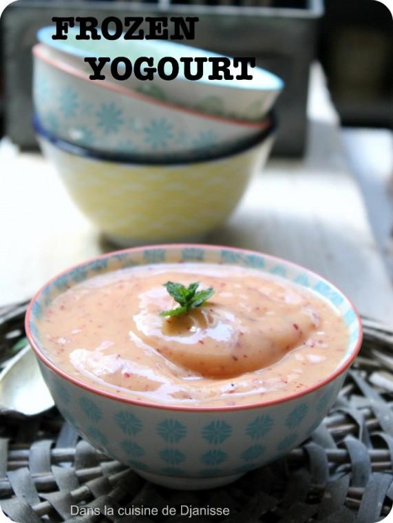 Frozen yogourt vegan à la nectarine