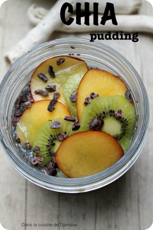 Raw vegan chia seeds pudding