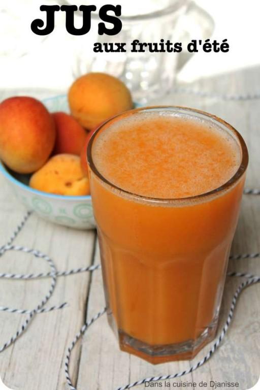 Jus frais de fruits d'été