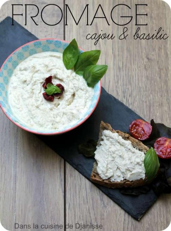 Fromage végétal cajou & basilic
