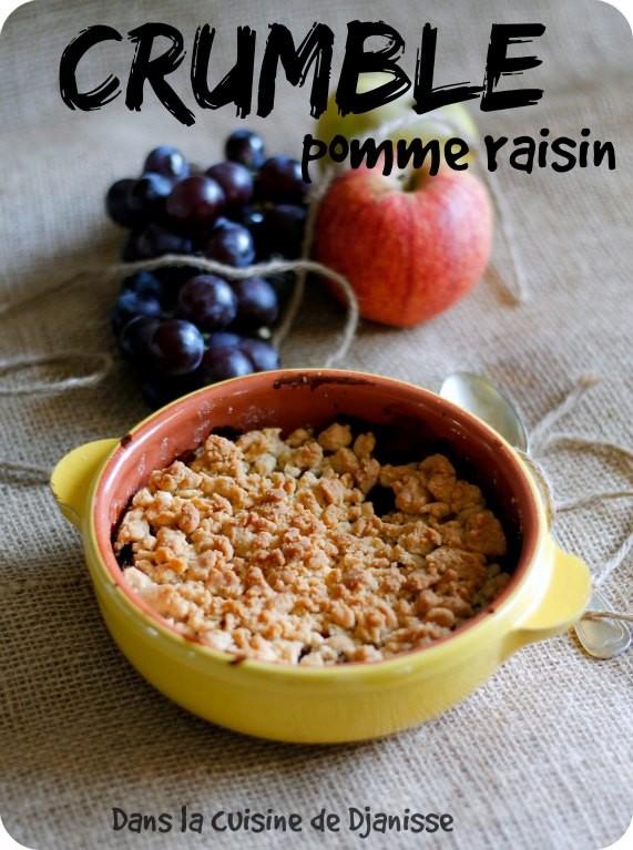 Crumble pomme/raison végétalien et sans gluten