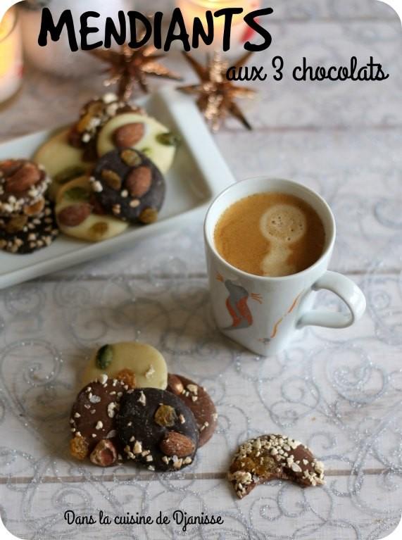 Mendiants aux 3 chocolats {vegan}