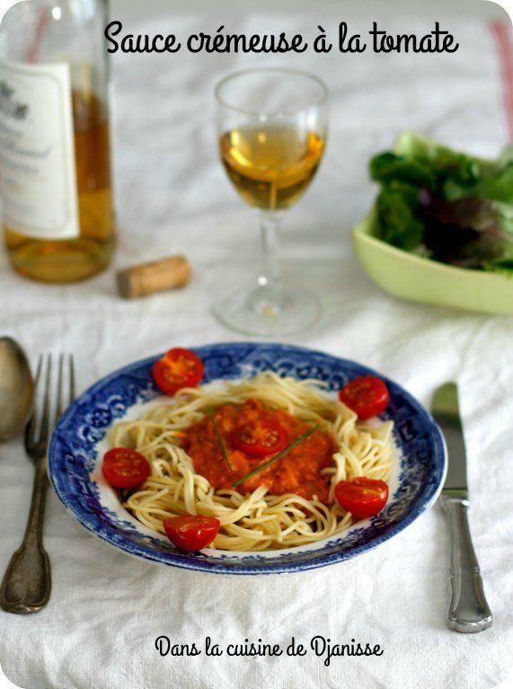 Sauce crémeuse à la tomate végétalienne