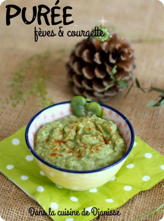Vegan : purée fèves & courgette