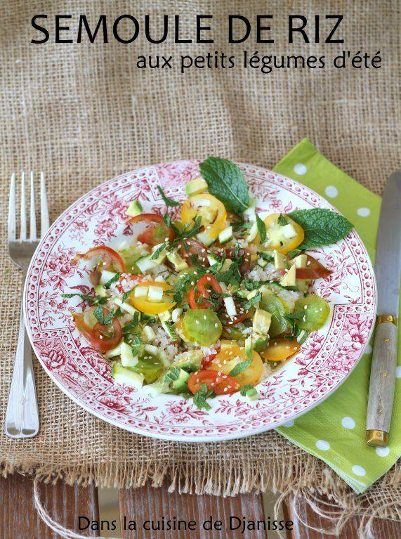 Recette végane : semoule de riz aux légumes d'été