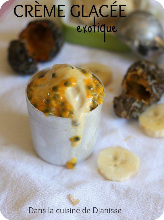 Crème glacée aux fruits exotiques