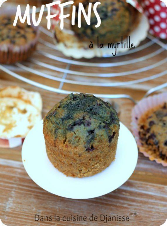 Recette végane : muffins sans gluten à la myrtille
