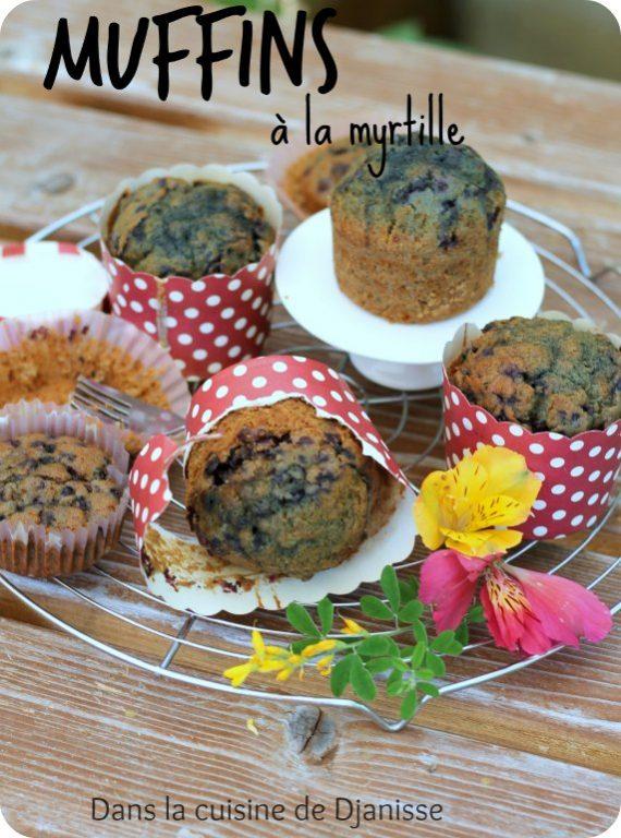 Muffins à la myrtille - Vegan et sans gluten