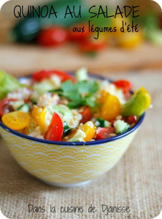 Salade vegan : quinoa et petits légumes d'été (sans gluten)