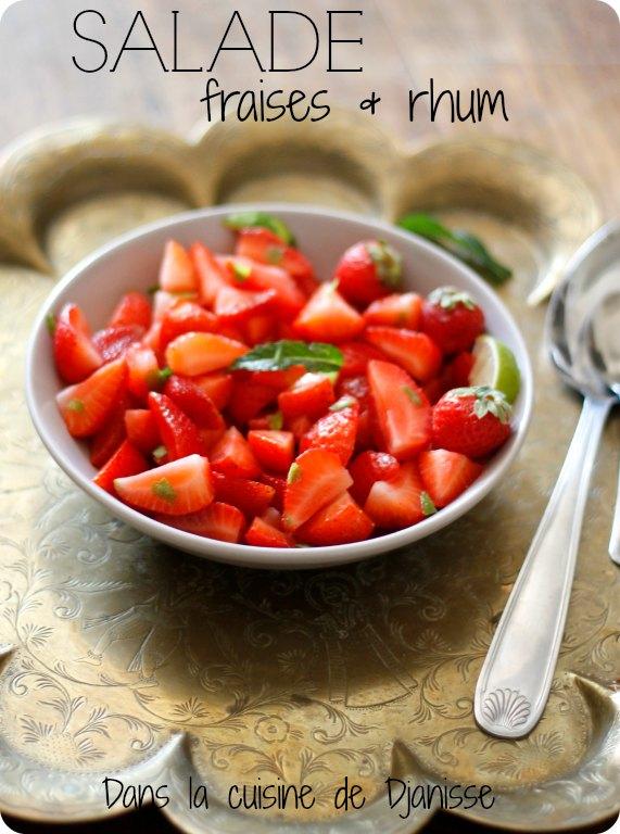 Salade de fraises au rhum - Vegan
