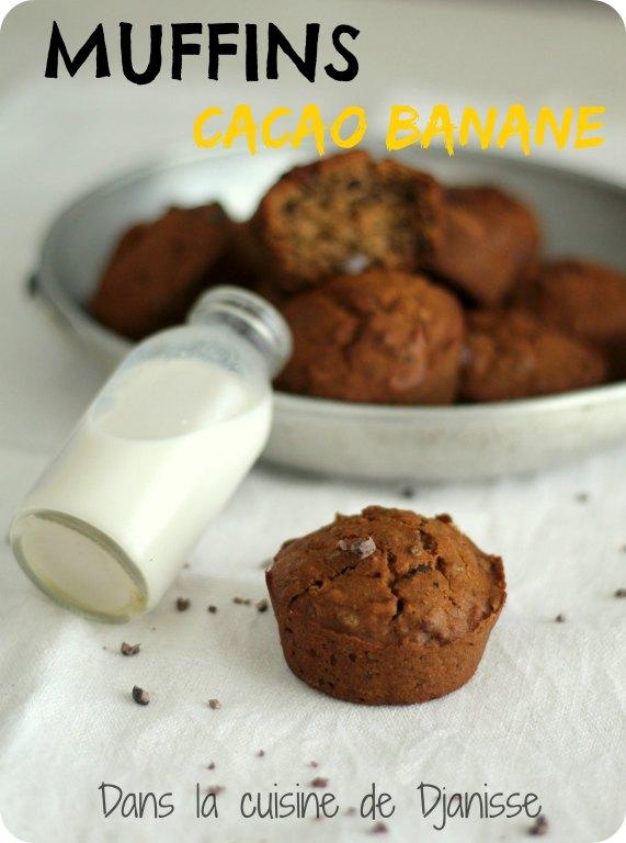 Muffins cacao banane