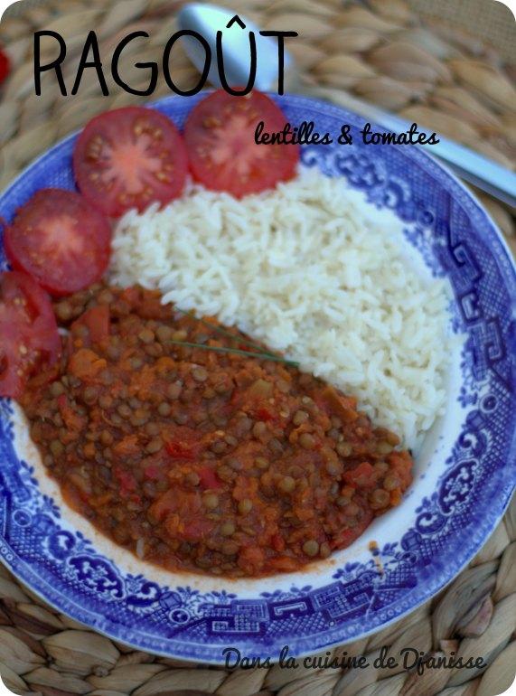 Rago t de lentilles vertes et tomates recette v gane - Cuisiner des tomates vertes ...