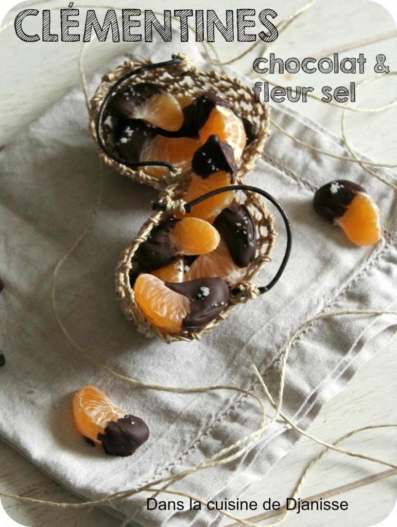 Clémentines chocolat et fleur de sel