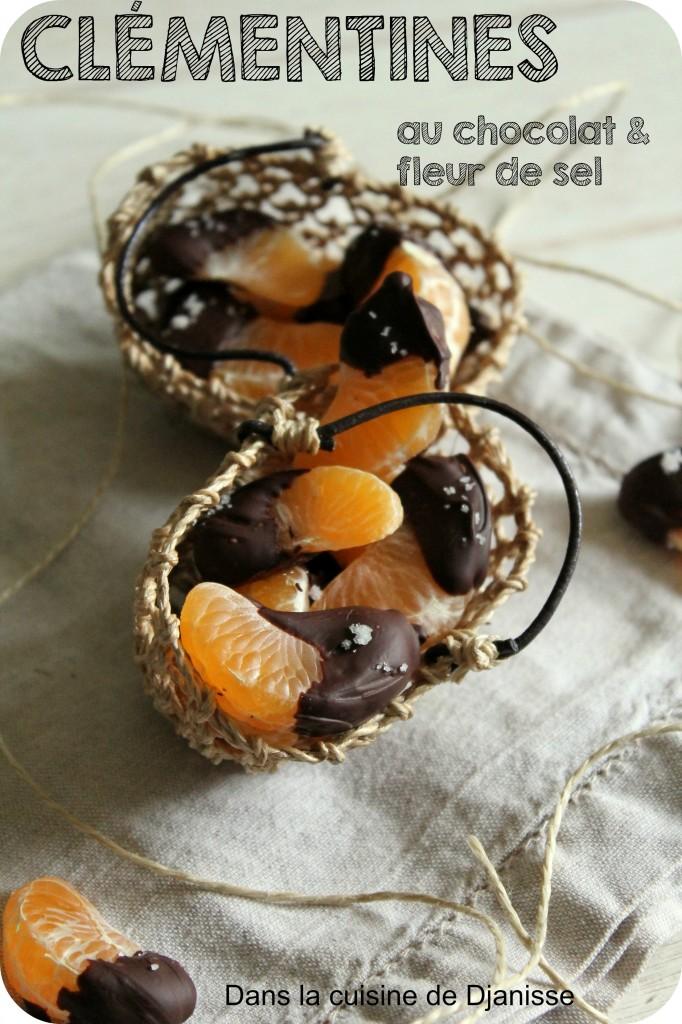 Clémentines au chocolat et fleur de sel