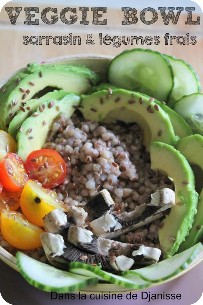 Sarrasin et légumes frais en veggie bowl