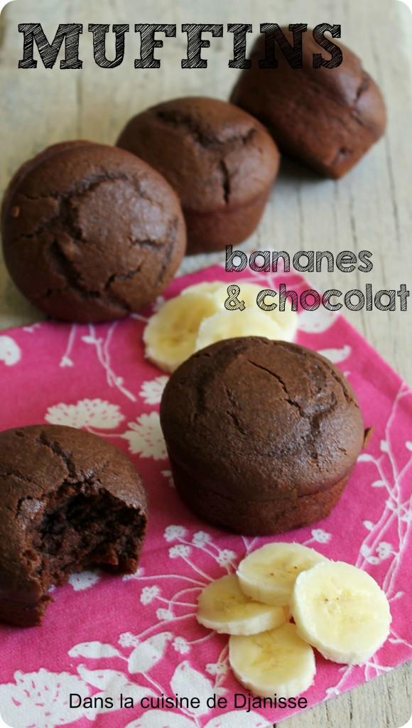 muffins chocoalt banane, sans gluten