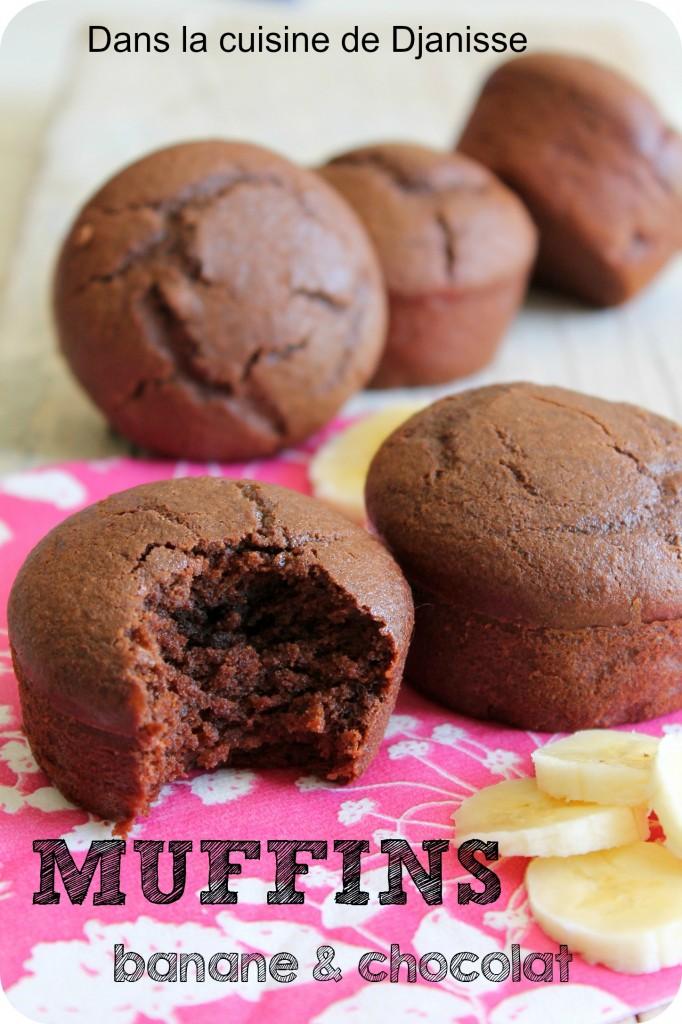 Muffins sans gluten au chocolat et à la banane