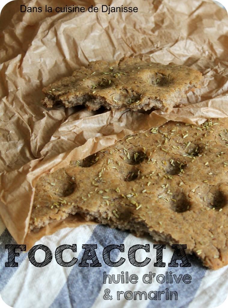 Focaccia à l'huile d'olive et au romarin