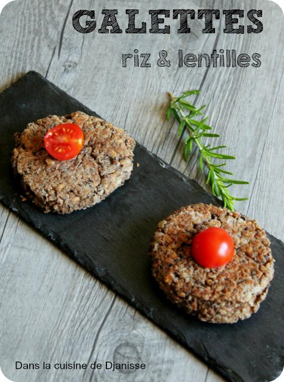 Galettes lentiles et riz