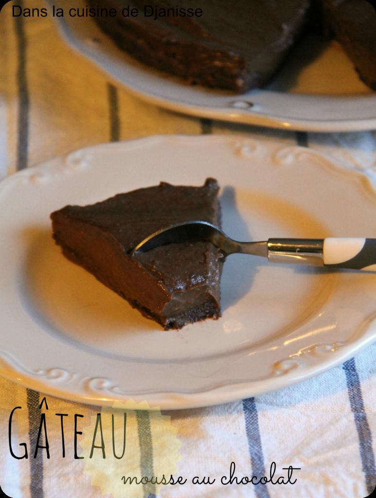 gâteau chocolat sans cuisson vegan