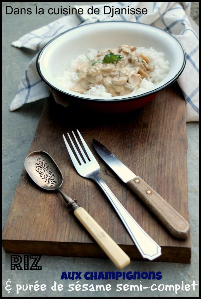 sauce champignons crèmes de sésame