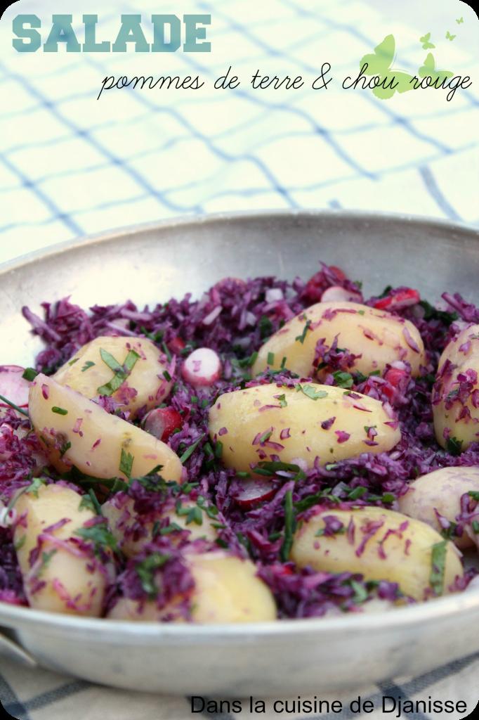 Salade pommes de terre et chou rouge