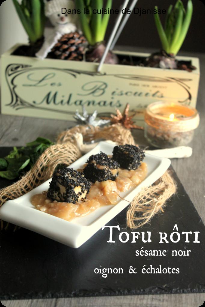 tofu rôti au sésame noir