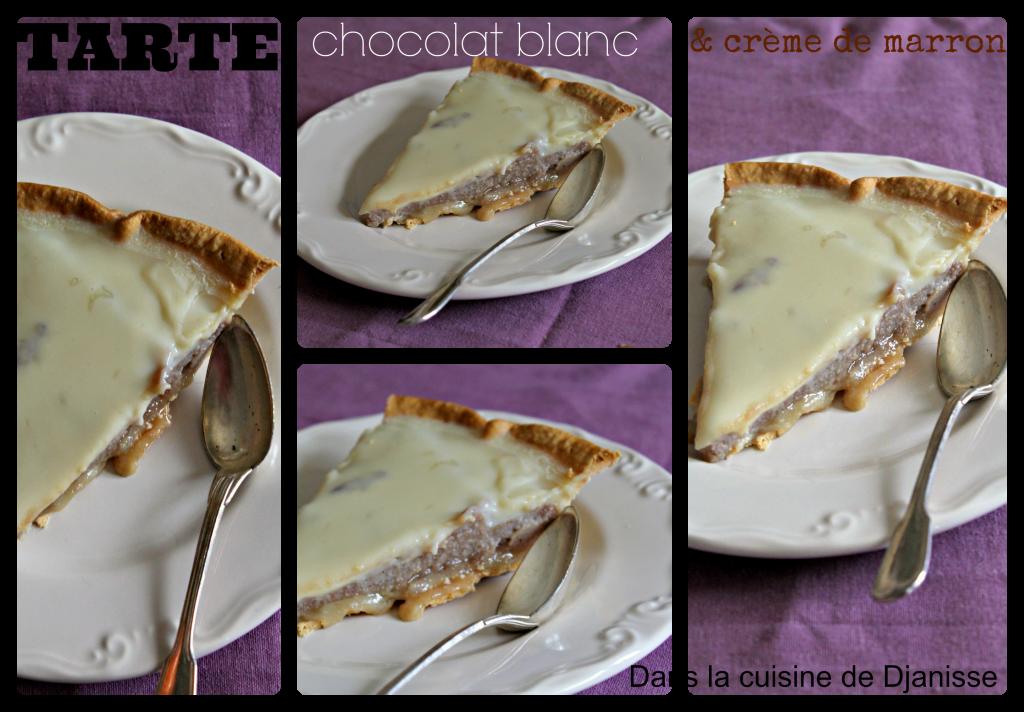 Tarte au chocolat blanc & crème de marron