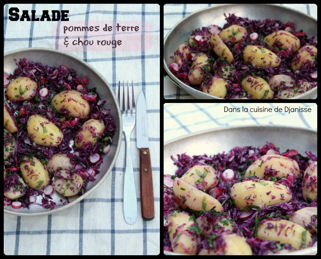 salalde pommes de terre chou rouge